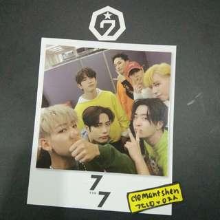 GOT7 7 FOR 7 Polaroid Rare Photocard Official Taiwan Special Edition Photocard Official