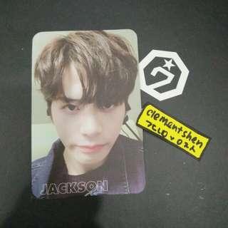 GOT7 7 FOR 7 Jackson Photocard Taiwan Special Edition Rare photocard