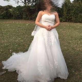 婚紗 pre-wedding 婚後物資 S - M size 綁帶款