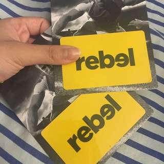 $30 REBEL GIFTCARDS
