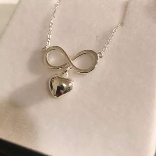 PROUDS Silver Heart Inifinity Necklace