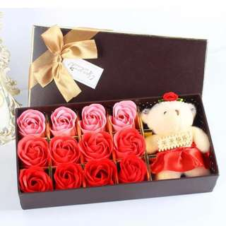 soap roses red n pink colour