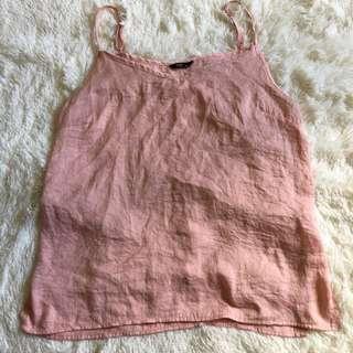 Pink Silk Singlet
