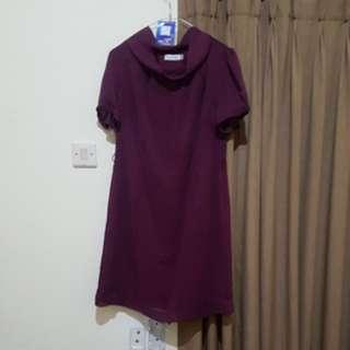 Mint Midi Dress in Purple