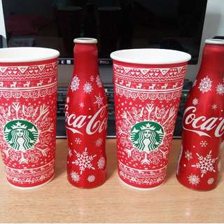 $3 each Starbucks Christmas paper cup + Coca-cola Christmas gift bottle decoration tree ornament card greetings cake gift present candle !!!!!