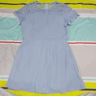 Lace Panel Tea Dress