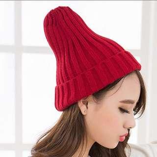 全新針織粗毛線帽