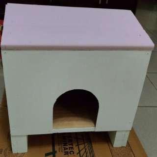 手工木製貓屋