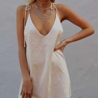 Tie Up Strap Dress