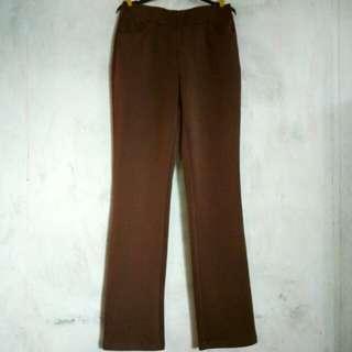 Voir Casual Pants in Dark Brown