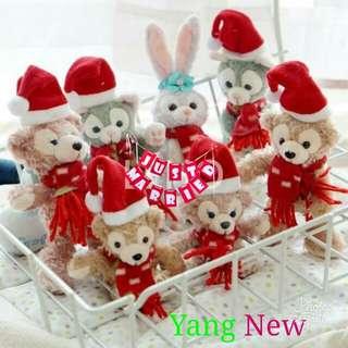 ❤️聖誕系列吊飾史黛拉.達菲.畫家貓❤️   款式:史黛拉、畫家貓、達菲熊(共7款)  尺寸:10CM-13CM