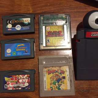 GBA Games and Camera
