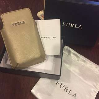 FURLA handphone leather pouch