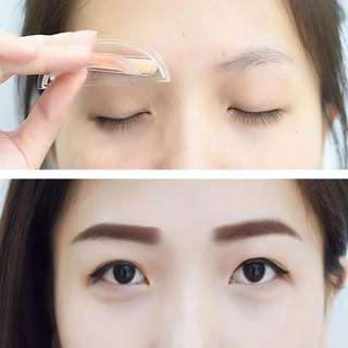 #1212YES ***Latest Edition*** Eyebrow Stamp (straight brows) Korean Style