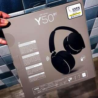 AKG Wireless Bluetooth Headphones in black (Model: Y50BT) #1212YES