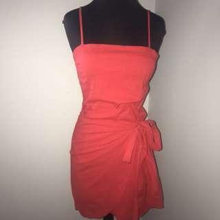 Red wrap dress 10