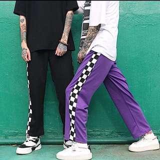 [sold] gingham basic track pants