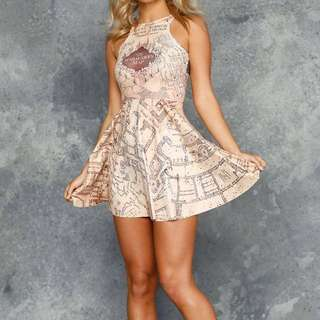 Black Milk Marauders Map Dress