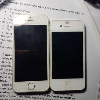 IPHONE 4S AND 5S (FOR PARTS ONLY)