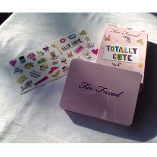 Too Faced Totally Cute Eye Shadow Palette w/stickers BRAND NEW & AUTHENTIC (NO OFFERS)