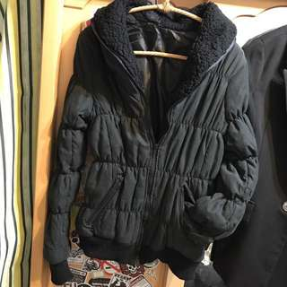 綿質內裹拉鍊外套