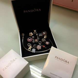 Pandora charms + bracelet