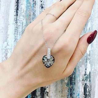 Swarovski silver pendant!💎s925