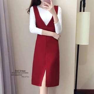 2in1 dress fits S-L