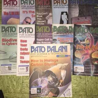 All for 60 pesos - 11 issues of Bato Balani and 8 issues of Salaguinto Science Magazine all for 60.00