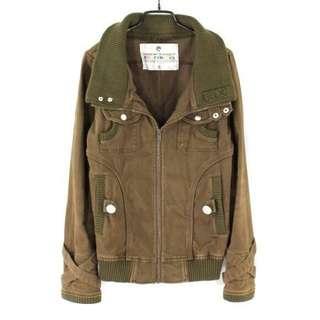 【TWO PERCENT 2%】咖啡色刷舊款騎士風夾克外套S