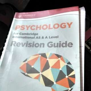 Psychology A-Level Revision Guide + Example Candidates Response