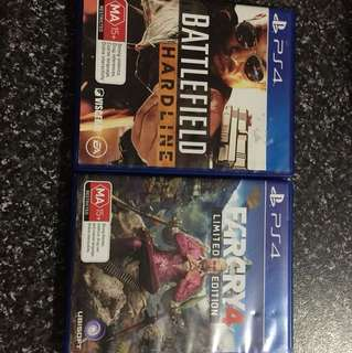 Far Cry 4/ Battlefield Hardline PS4 Games