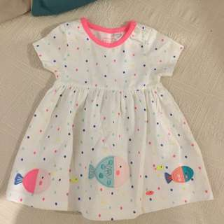 NEW UK Designer Debenhams Blue Zoo 0-3m Girl's Dress