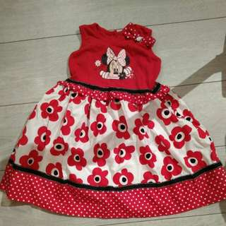 Kmart minnie mouse Girl Dress
