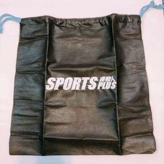 Sport Plus 運動人 束口袋 黑色
