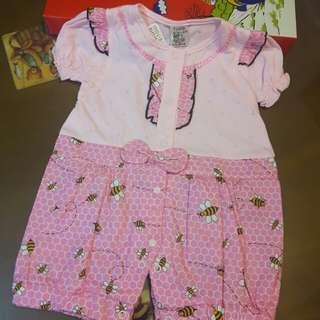 小蜜蜂短袖連身褲~8號女童