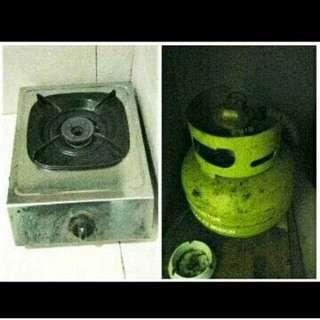 Tabung gas 3kg dan kompor rinnai 1 tungku