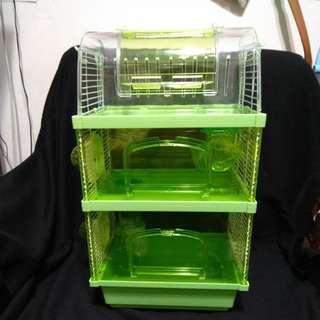 鼠籠 倉鼠 哈姆太郎 三層 透明 老公公 楓葉鼠