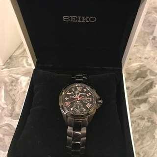 SEIKO黑色底女裝手錶
