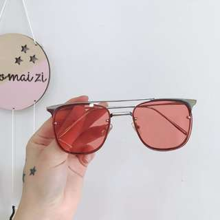 INSTOCKS red tinted sunglasses sunnies sun glasses shades