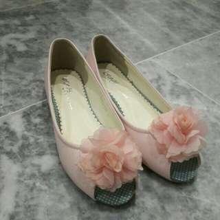 Pink Rosie flats