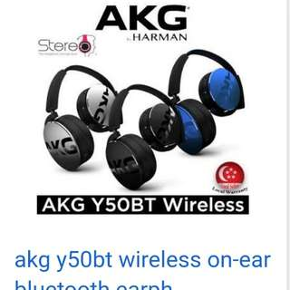Brand New - AKG Y50BT On Ear Bluetooth Wireless Headphones(Black)