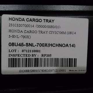 Honda civic FD cargo tray