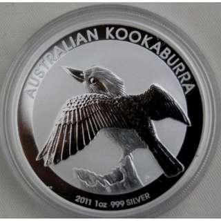 Australian Silver Kookaburra 2011 - 1 oz