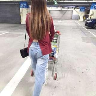 轉賣漢娜的紅色上衣T(尺寸s)棉質