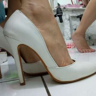 Sexy high heels in white