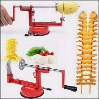 Alat pemotong kentang spiral otomatis