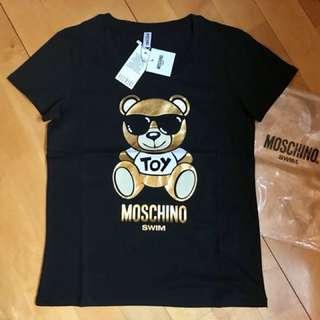 Moschino bear Tee 黑色熨金熊