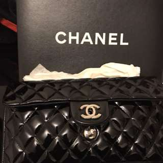 Chanel 漆皮袋 patent leather chain bag