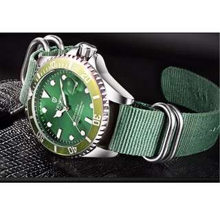 Tevise auto mechanical watch high quality Nato straps with tag and manual